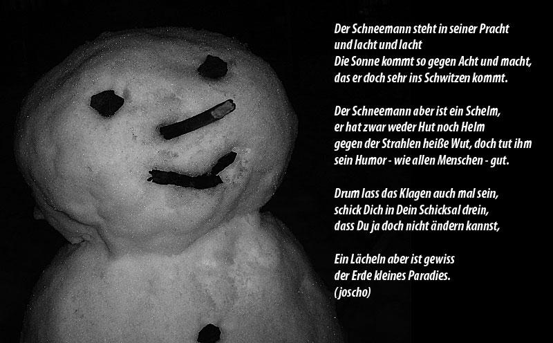 Schneemannmittext
